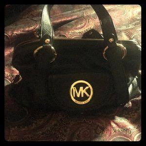 Authentic MICHAEL KORS Black Leather